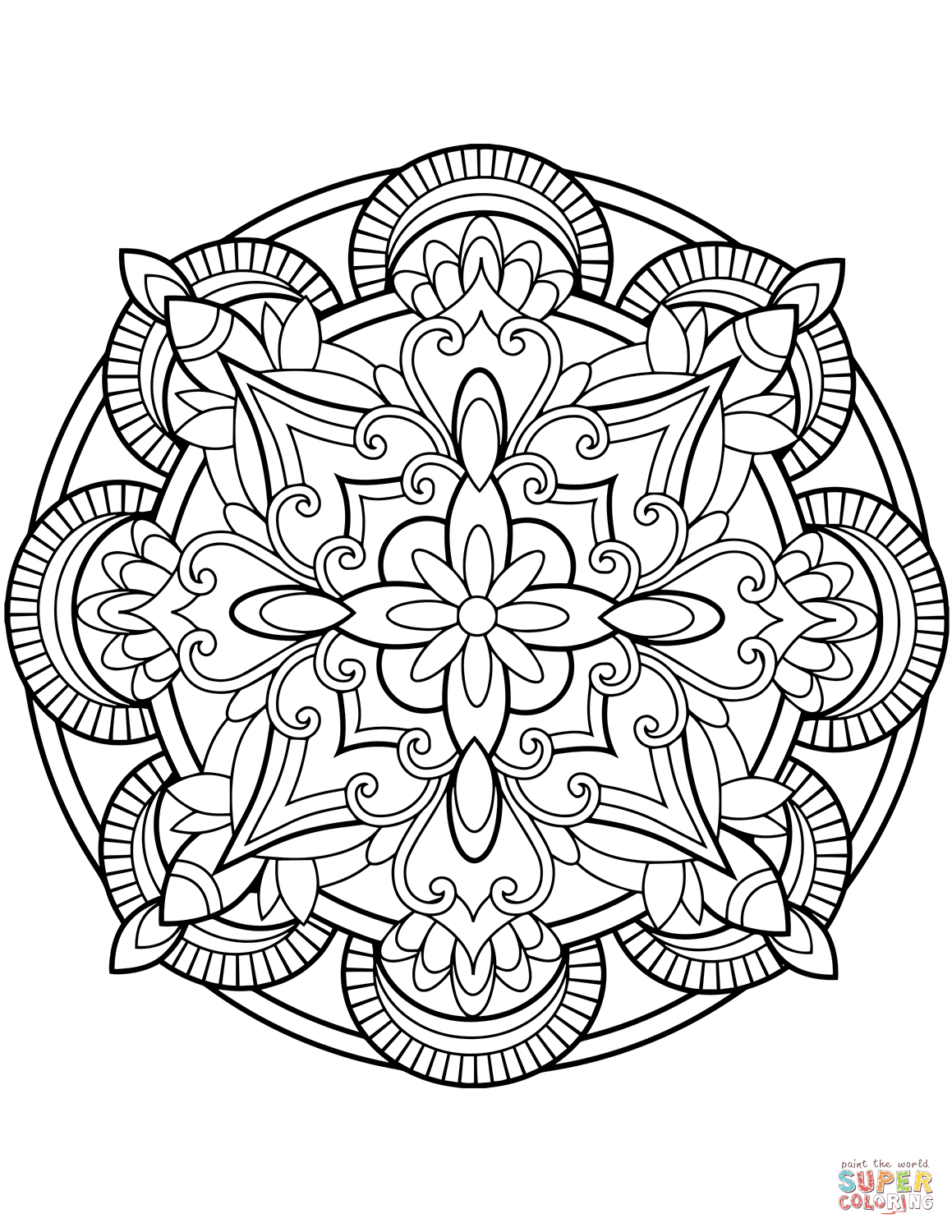 Floral Mandalas Coloring Pages | Free Coloring Pages - Mandala Coloring Free Printable