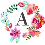 Floral Monogram Free Printable | Tags :: Letters And Numbers   Free Printable Flower Letters