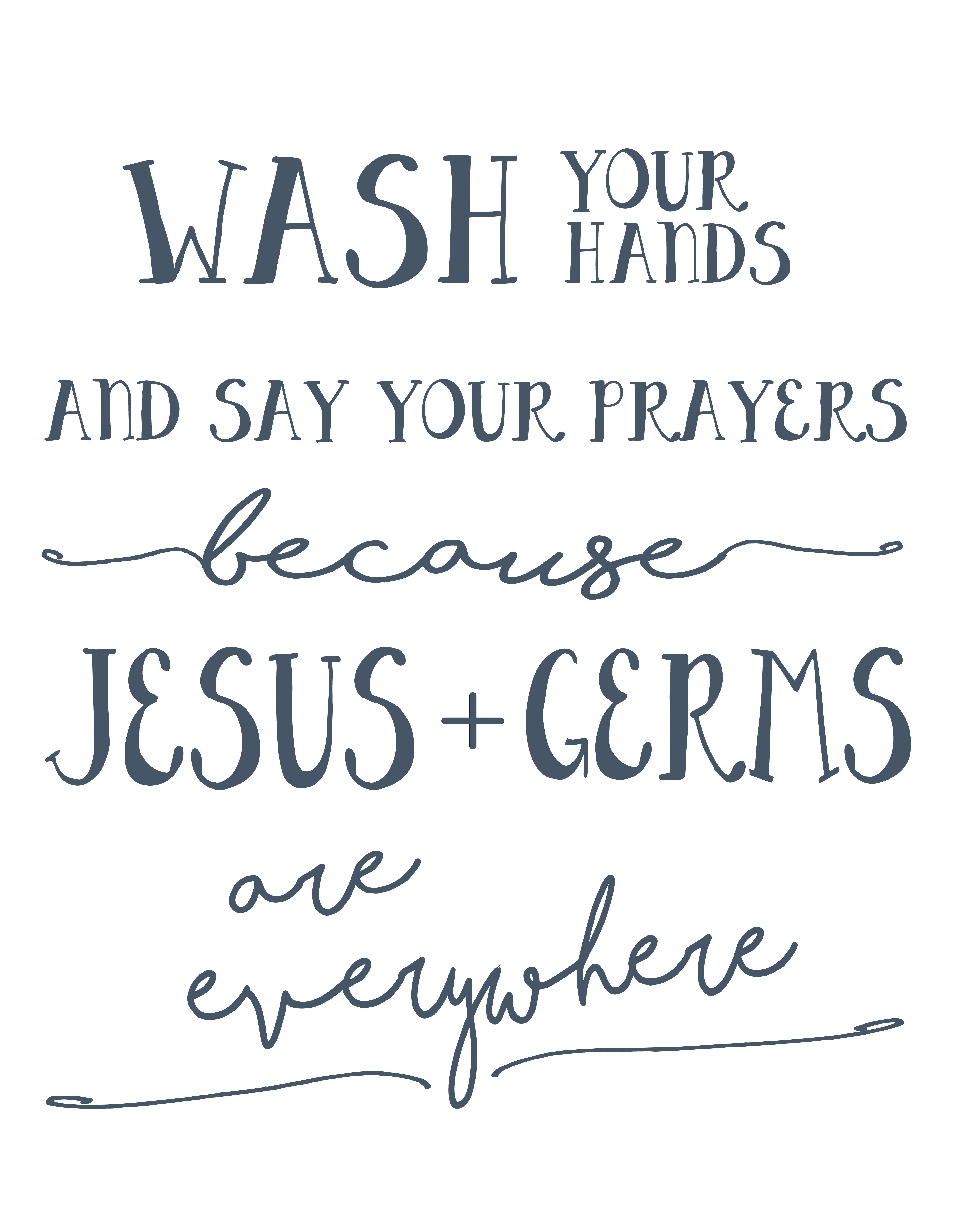 For The Girls Bathroom Wash Your Hands And Say Your Prayers Free - Wash Your Hands And Say Your Prayers Free Printable