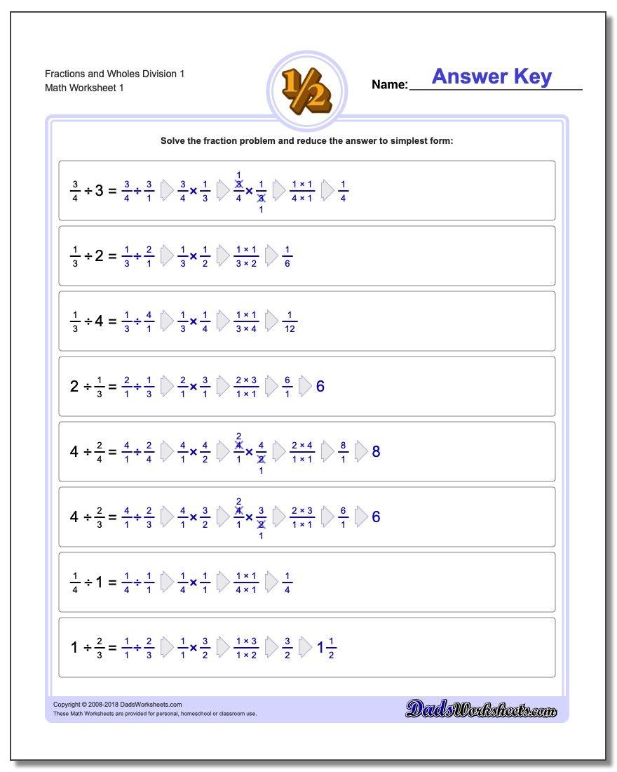 Fraction Division - Free Printable Fraction Worksheets Ks2