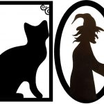 Framed Creepy Silhouette Decorations (Free Halloween Printable   Free Printable Halloween Decorations Scary