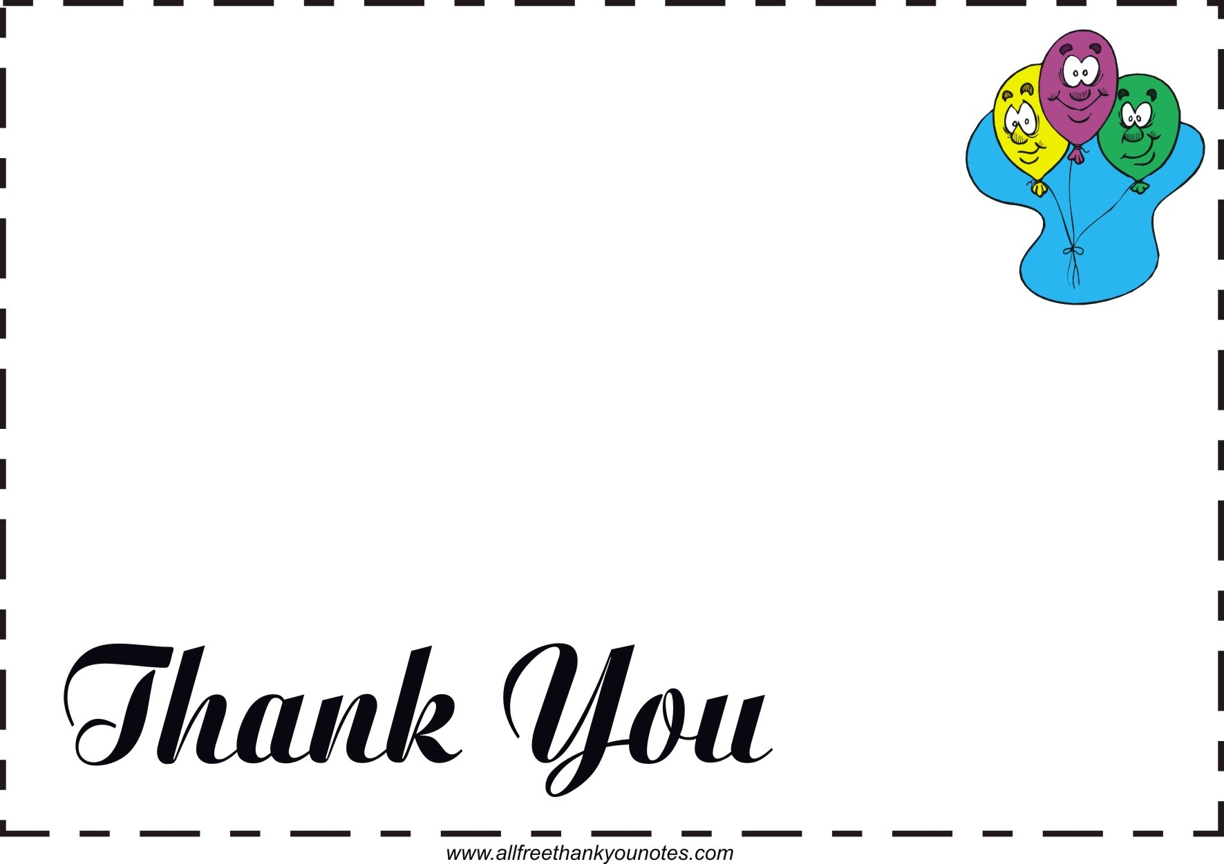 Free All Occasion Thank You Notes And Thank You Cards - Free Printable Thank You Cards Black And White