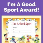 Free Award Certificate   I'm A Good Sport (Primary | Behavior Charts   Free Printable Swimming Certificates For Kids