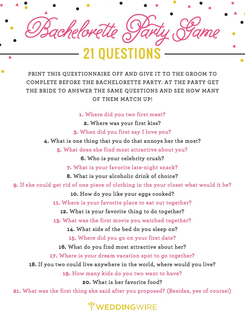Free Bachelorette Party Printables | Popsugar Smart Living - Free Printable Bachelorette Party Games