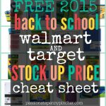 Free Back To School Walmart & Target Stock Up Price Cheat Sheet   Free Printable Coupons For School Supplies At Walmart