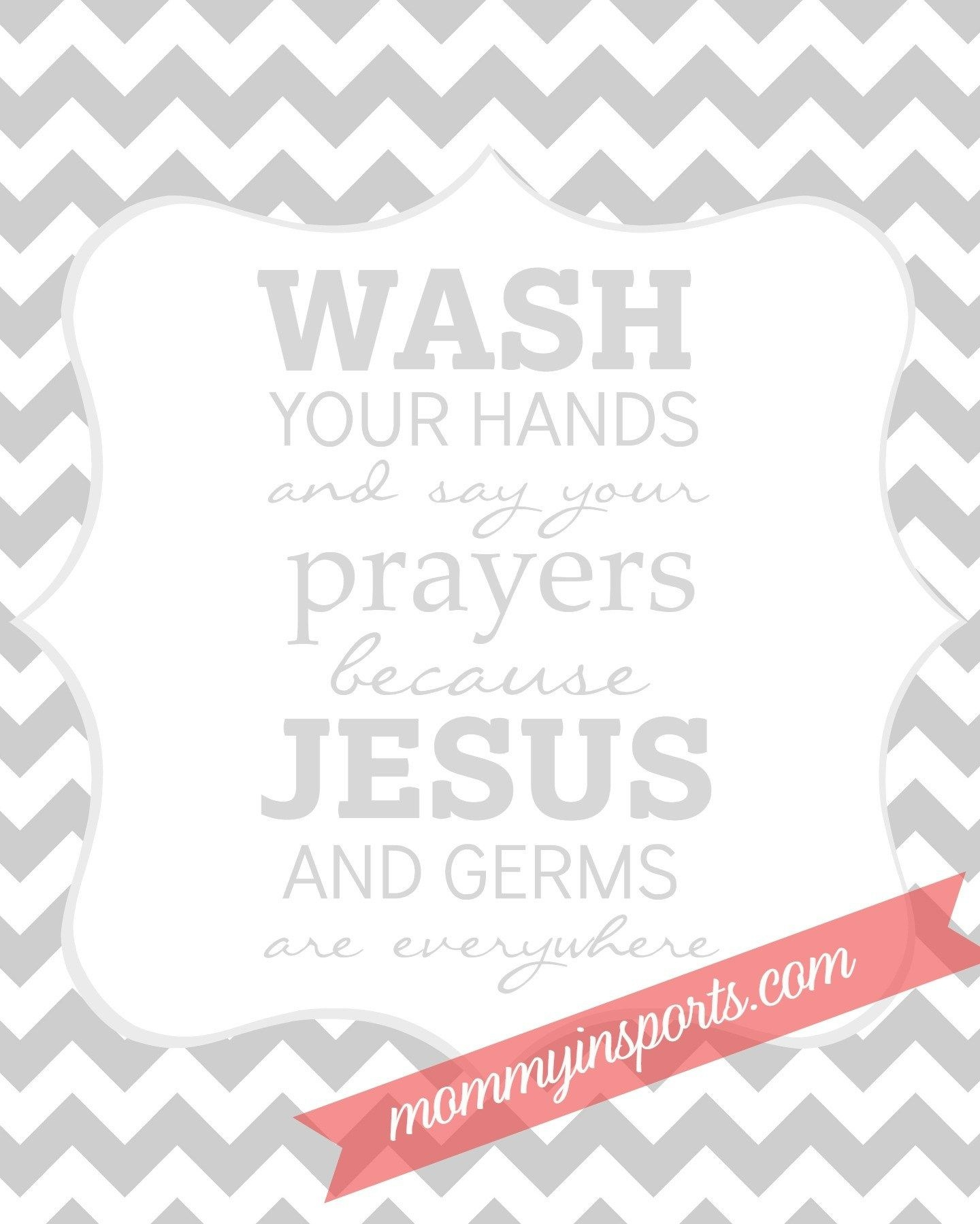 Free Bathroom Printable | Camp Ideas | Bathroom Kids, Kids Bathroom - Wash Your Hands And Say Your Prayers Free Printable