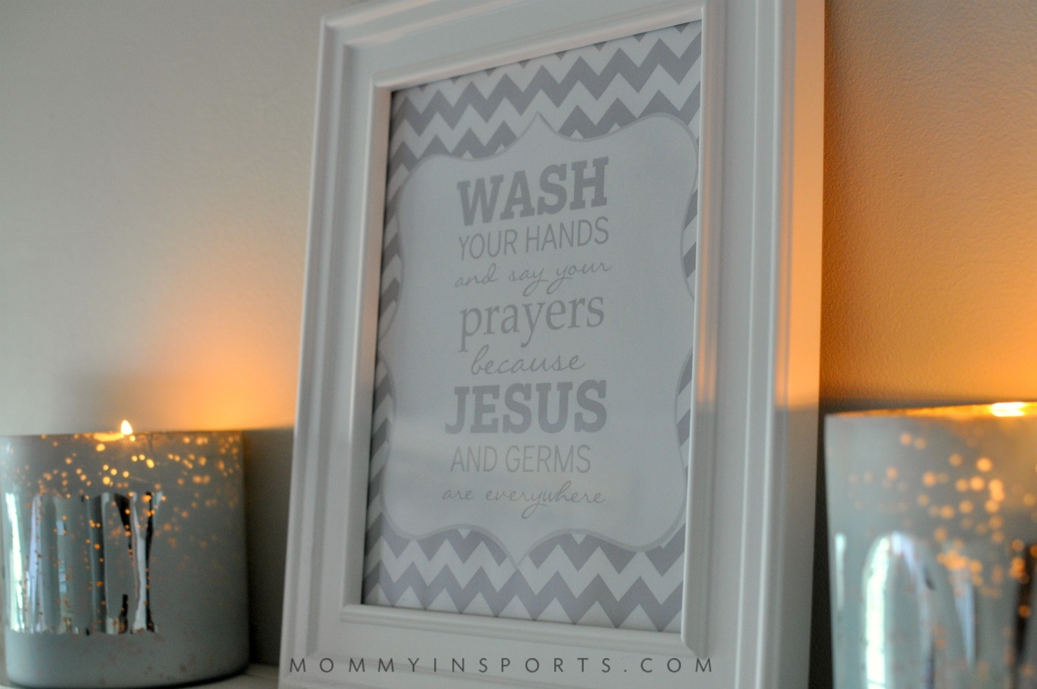 Free Bathroom Printable - Kristen Hewitt - Wash Your Hands And Say Your Prayers Free Printable