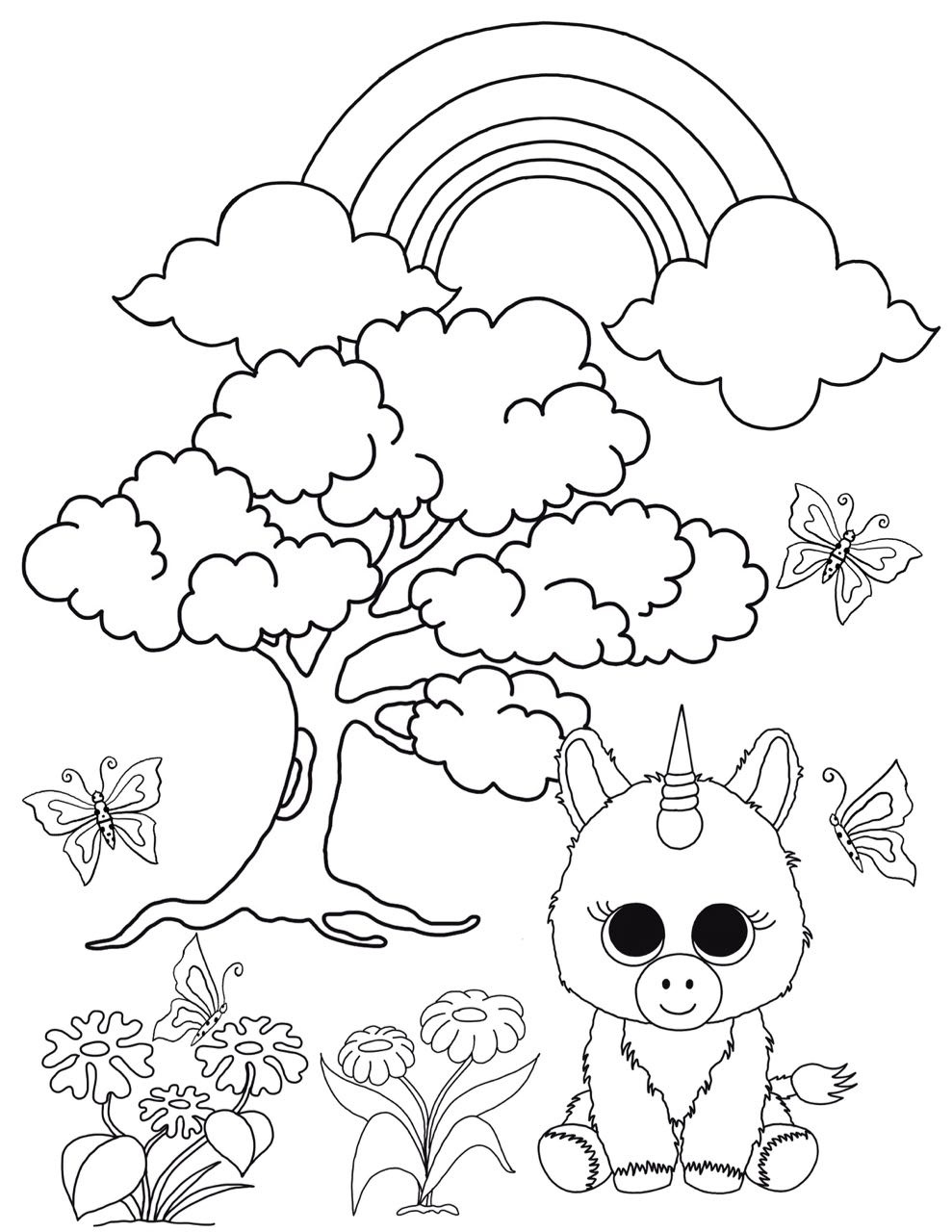 Free Beanie Boo Coloring Pages Download & Print: Cats, Dogs And Unicorns - Free Printable Beanie Boo Coloring Pages