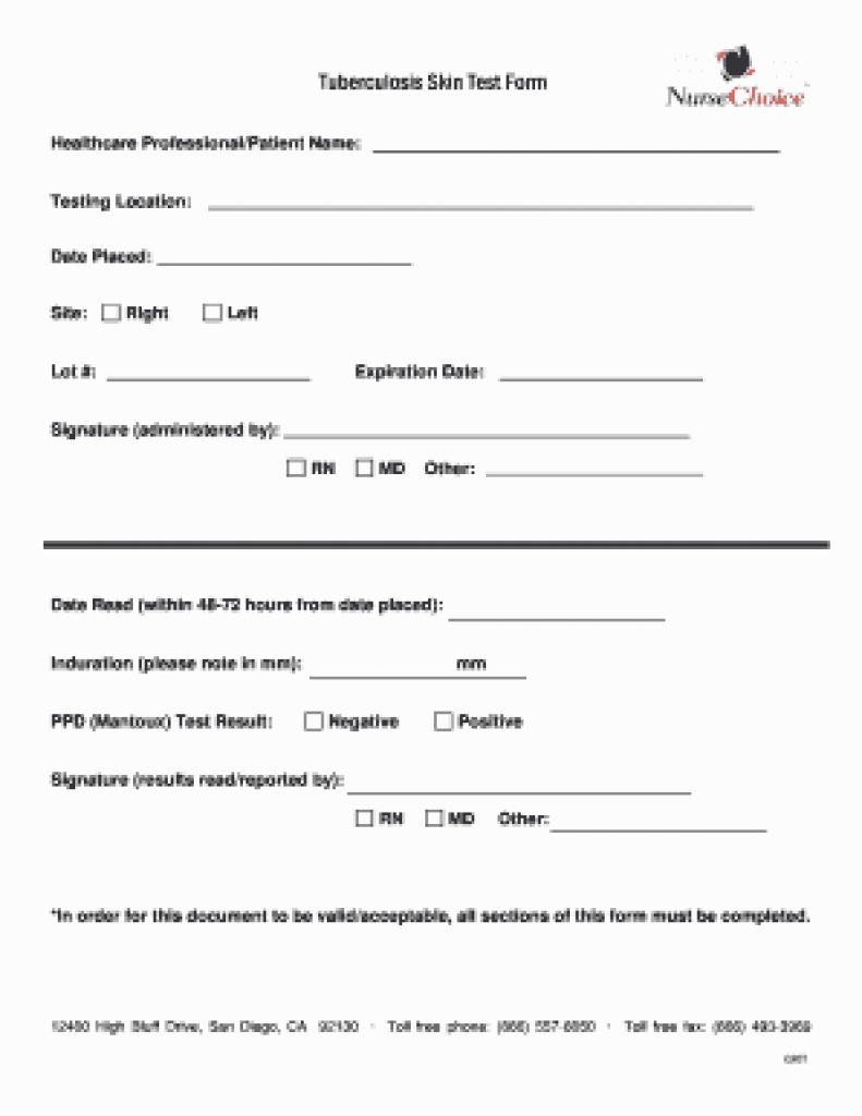 Free Blank Tb Test Form All You Need To Know About Free - Marianowo - Free Printable Tb Test Form