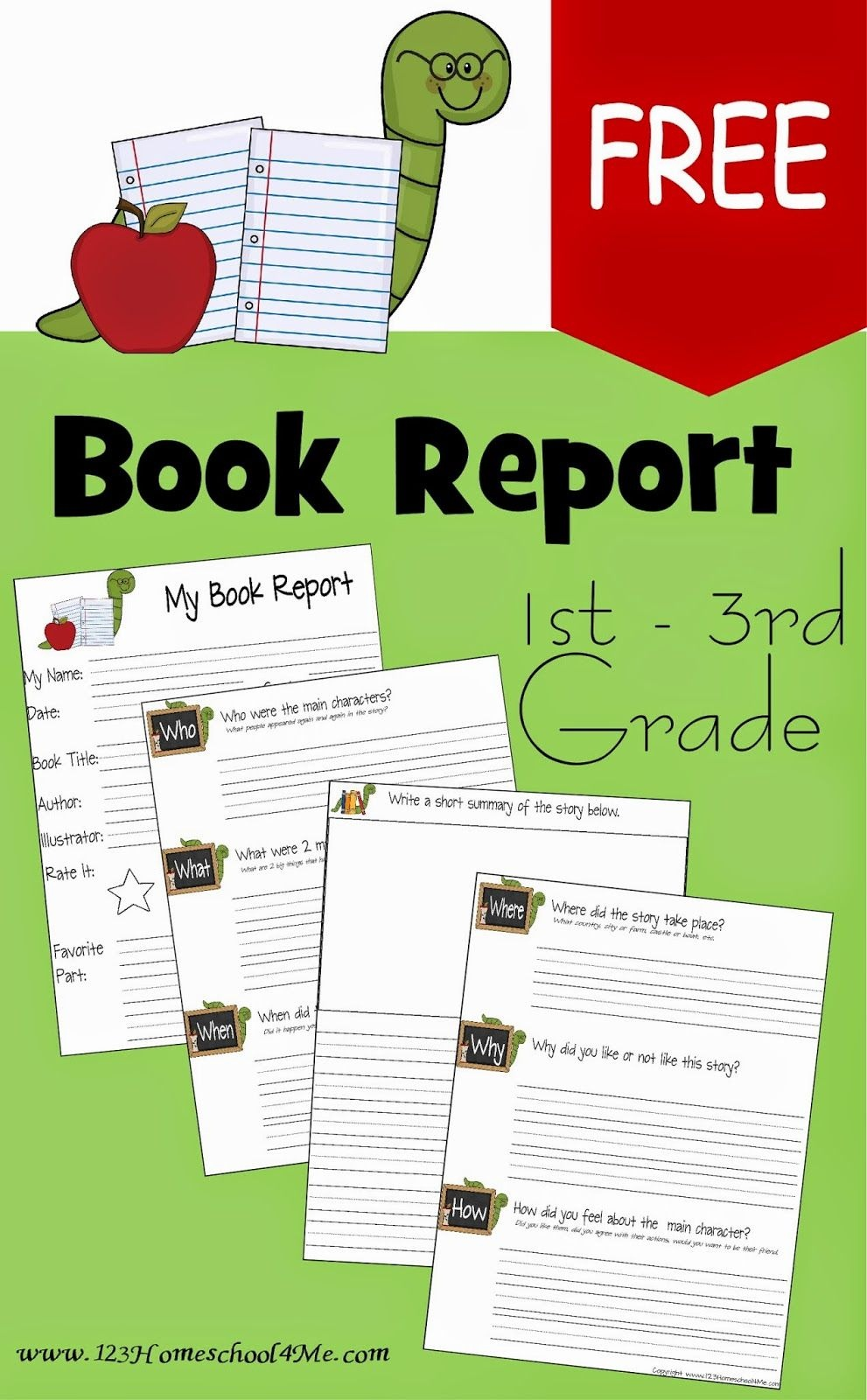 Free Book Report Template | Play Activities For Kids | 1St Grade - Free Printable Story Books For Grade 2