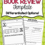 Free Book Review Template!   Live Love And Teach   Free Printable Story Books For Grade 2