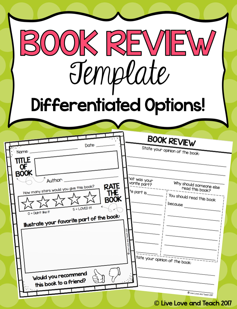 Free Book Review Template! | Live Love And Teach - Free Printable Story Books For Grade 2