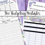 Free Budgeting Printables: Expense Tracker, Budget, & Goal Setting   Free Online Printable Budget Worksheet
