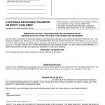 Free California Revocable Transfer On Death (Tod) Deed Form   Word   Free Printable Beneficiary Deed