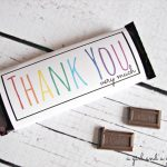 Free Candy Bar Wrapper Thank You (And Congrats) Printables!   A Girl   Free Printable Hershey Bar Wrappers
