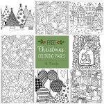 Free Christmas Adult Coloring Pages   U Create   Free Printable Holiday Coloring Pages