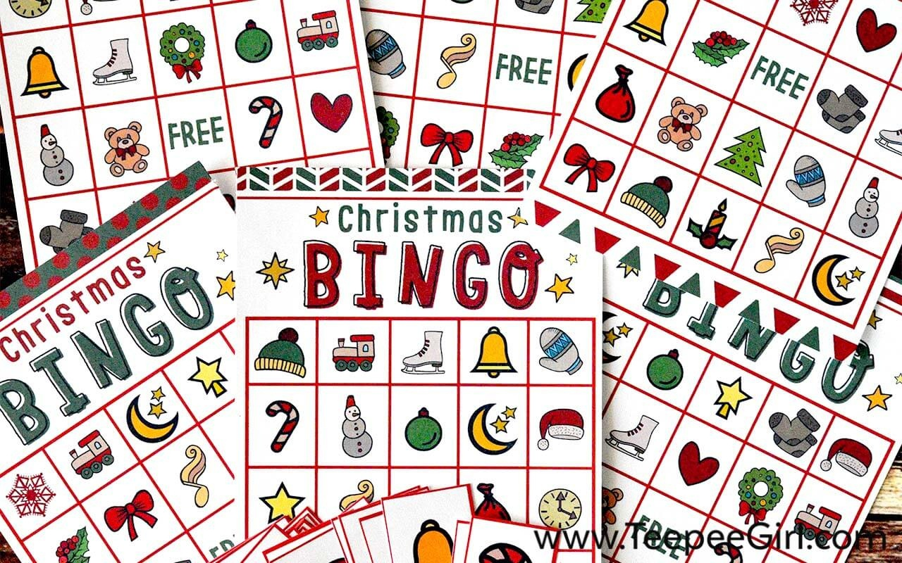 Free Christmas Bingo Game Printable - Free Printable Christmas Bingo Cards