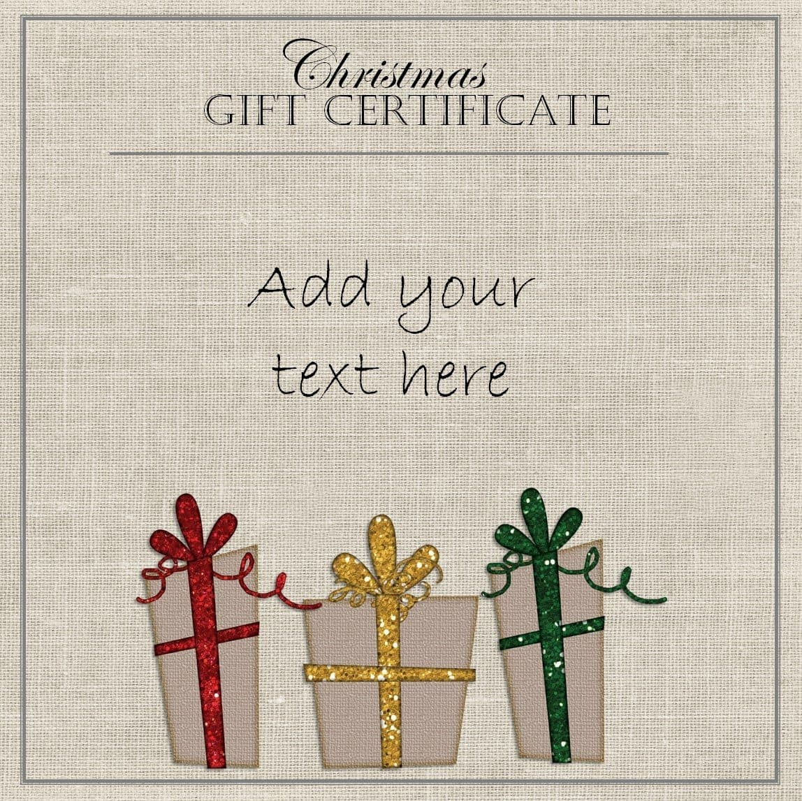 Free Christmas Gift Certificate Template | Customize Online & Download - Free Printable Christmas Gift Voucher Templates