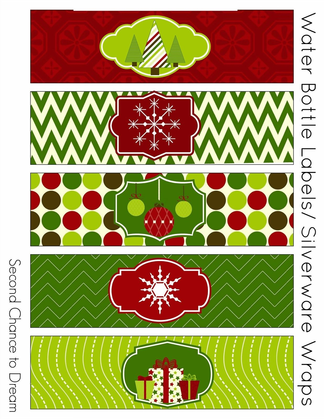 Free Christmas Party Printables | {Holidays} | Party Printables - Christmas Water Bottle Labels Free Printable