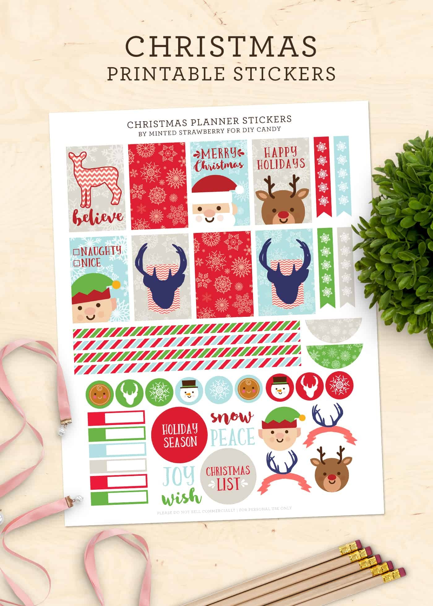 Free Christmas Stickers For Your Planner (Printable!) - Diy Candy - Free Printable Holiday Stickers