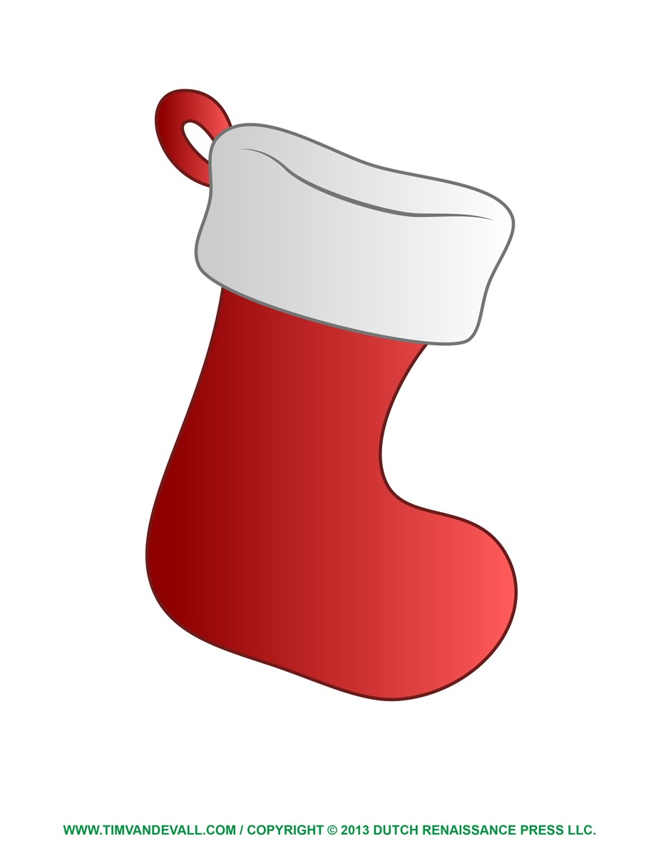 Free Christmas Stocking Template, Clip Art & Decorations - Christmas Stocking Template Printable Free