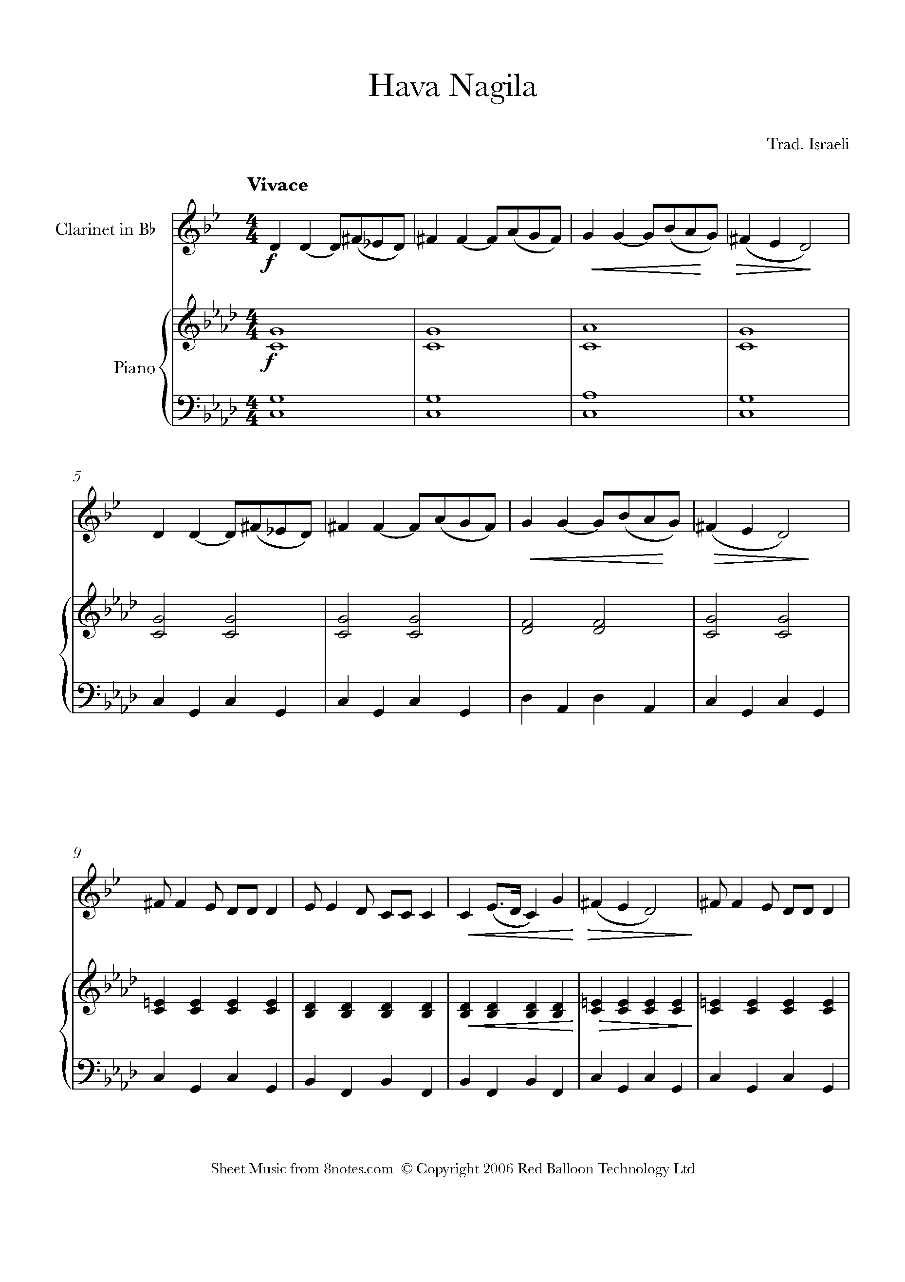 Free Clarinet Sheet Music, Lessons & Resources - 8Notes - Free Printable Clarinet Sheet Music