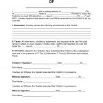 Free Codicil To Will Form   Pdf | Word | Eforms – Free Fillable Forms   Free Printable Wills