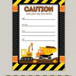 Free Construction Birthday Party Printables. Construction Party   Free Printable Construction Birthday Invitation Templates