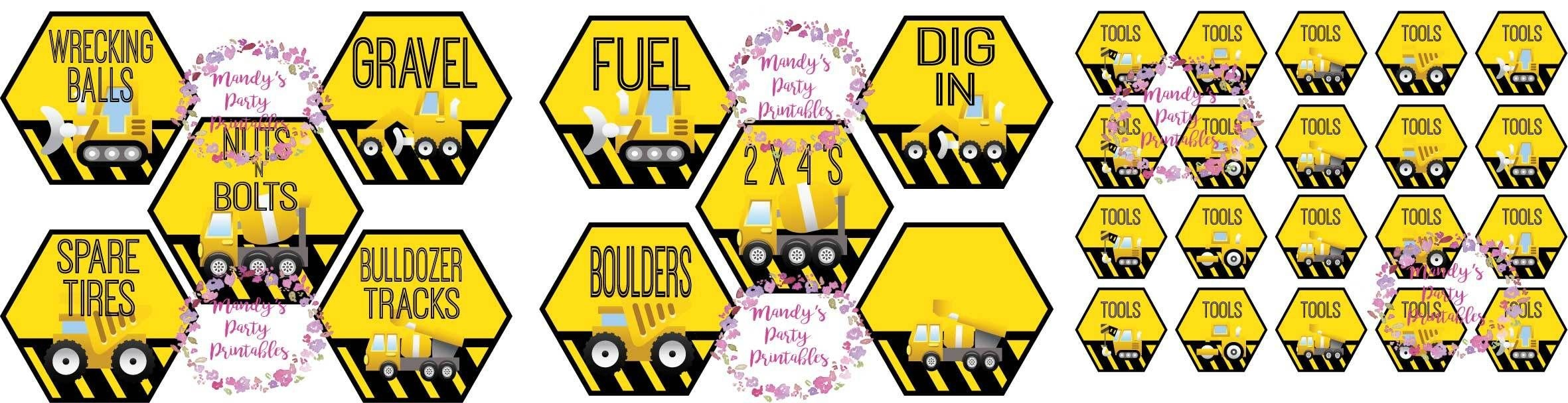 Free Construction Party Printables | Free Construction Party - Free Printable Party Signs