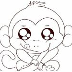 Free Cute Baby Monkey Drawings, Download Free Clip Art, Free Clip   Free Printable Monkey Coloring Sheets