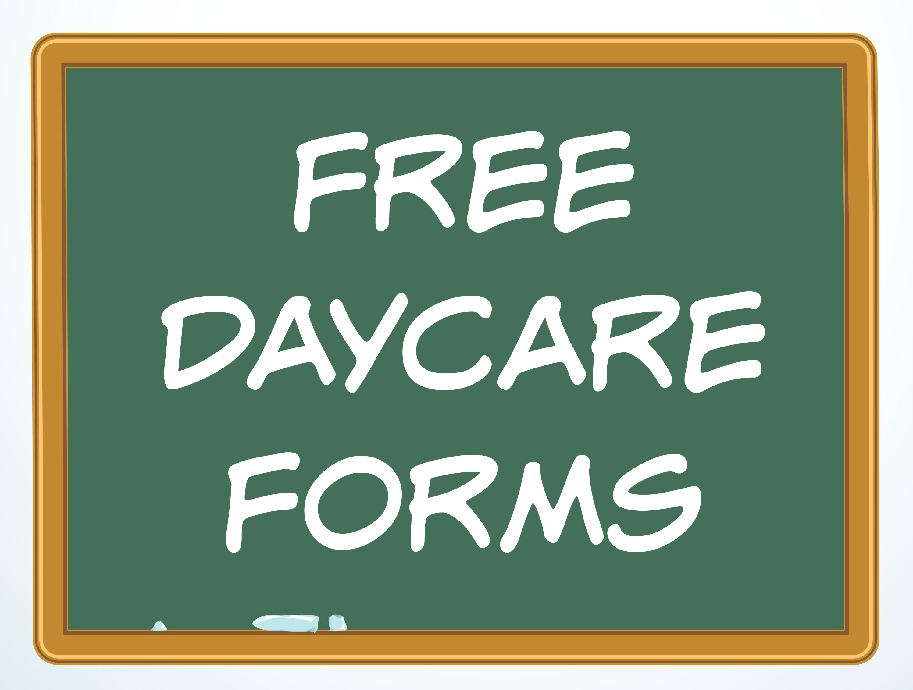 Free Daycare Forms And Sample Documents - Free Printable Daycare Forms