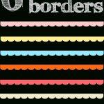 Free Digital Scalloped Scrapbooking Border Png's   Muschelränder   Free Printable Borders For Scrapbooking