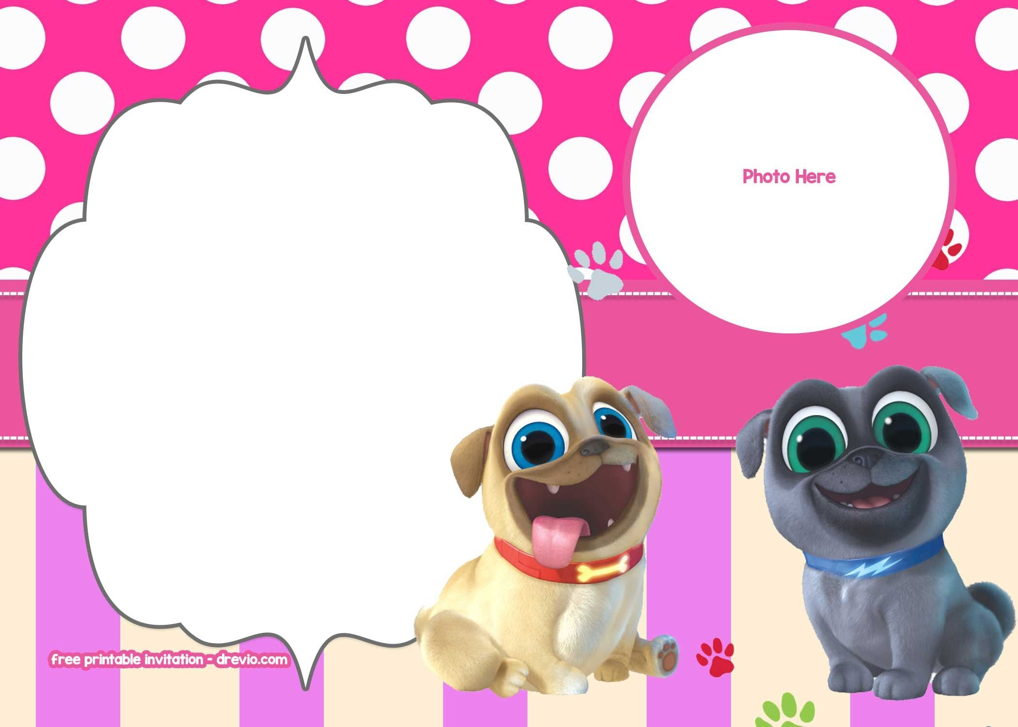 Free Disney Puppy Dog Pals Invitation Templates | Free Printable - Dog Birthday Invitations Free Printable