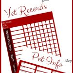 Free Download: Printable Vet Records Keeper | Pets | Puppies, Dog   Free Printable Dog Shot Records