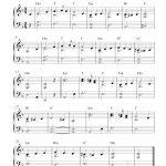 Free Easy Christmas Piano Sheet Music | What Child Is This?   Free Christmas Piano Sheet Music For Beginners Printable