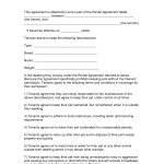 Free Easy Lease Agreement To Print | Free Printable Lease Agreement   Free Printable Pet Addendum