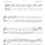 Free Easy Piano Sheet Music Solo. This Is A Simplified And Shortened   Canon In D Piano Sheet Music Free Printable