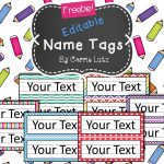 Free Editable!! Chevron, Dots Or Rainbow.simple Name Tags Type In   Free Printable Desk Name Plates For Students