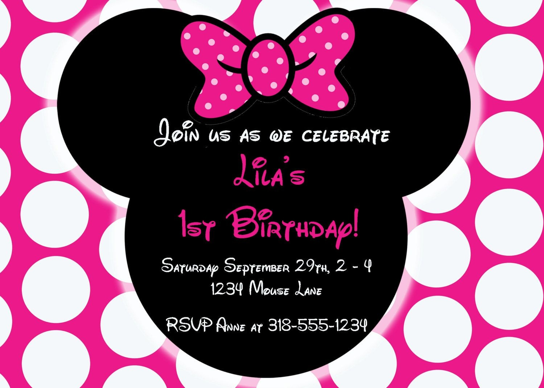 Free Editable Minnie Mouse Birthday Invitations | Minnie Mouse Sba - Free Printable Minnie Mouse Party Invitations