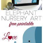 Free Elephant Nursery Printable Inspiredwhere You Go, I Go   Free Printable Elephant Pictures