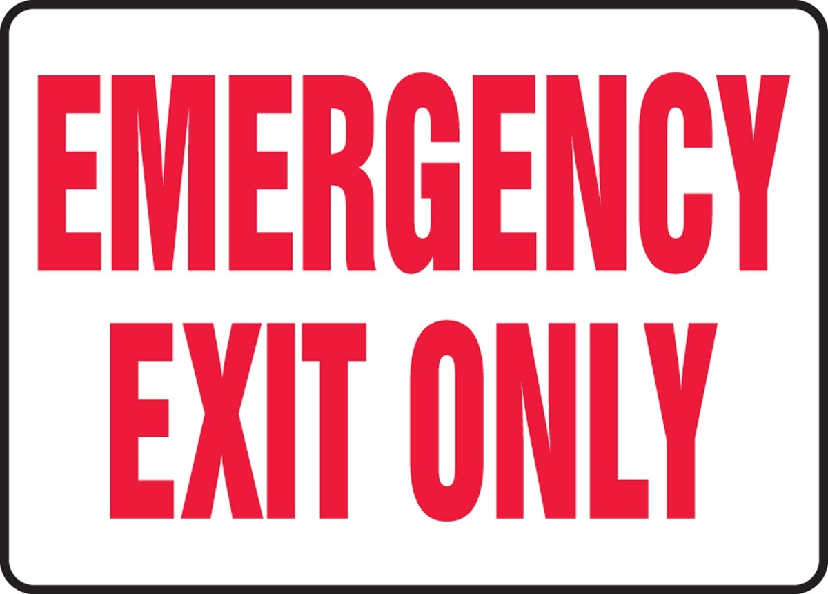 Free Emergency Exit Signs, Download Free Clip Art, Free Clip Art On - Free Printable Not An Exit Sign