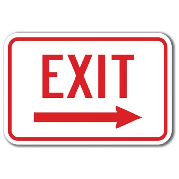 Free Printable Exit Signs