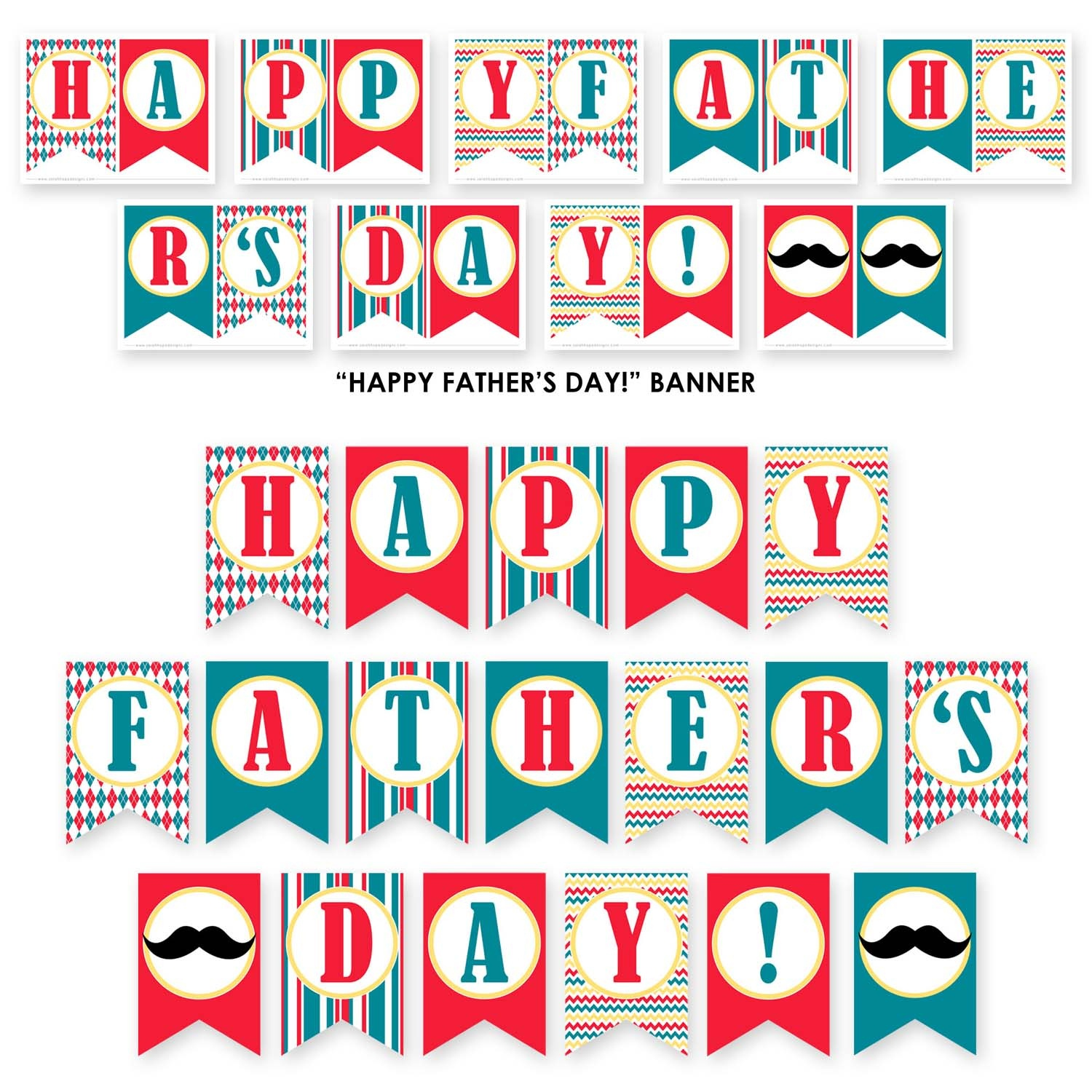 Free Father's Day Party Printables From Sarah Hope Designs | Catch - Happy Father Day Banner Printable Free