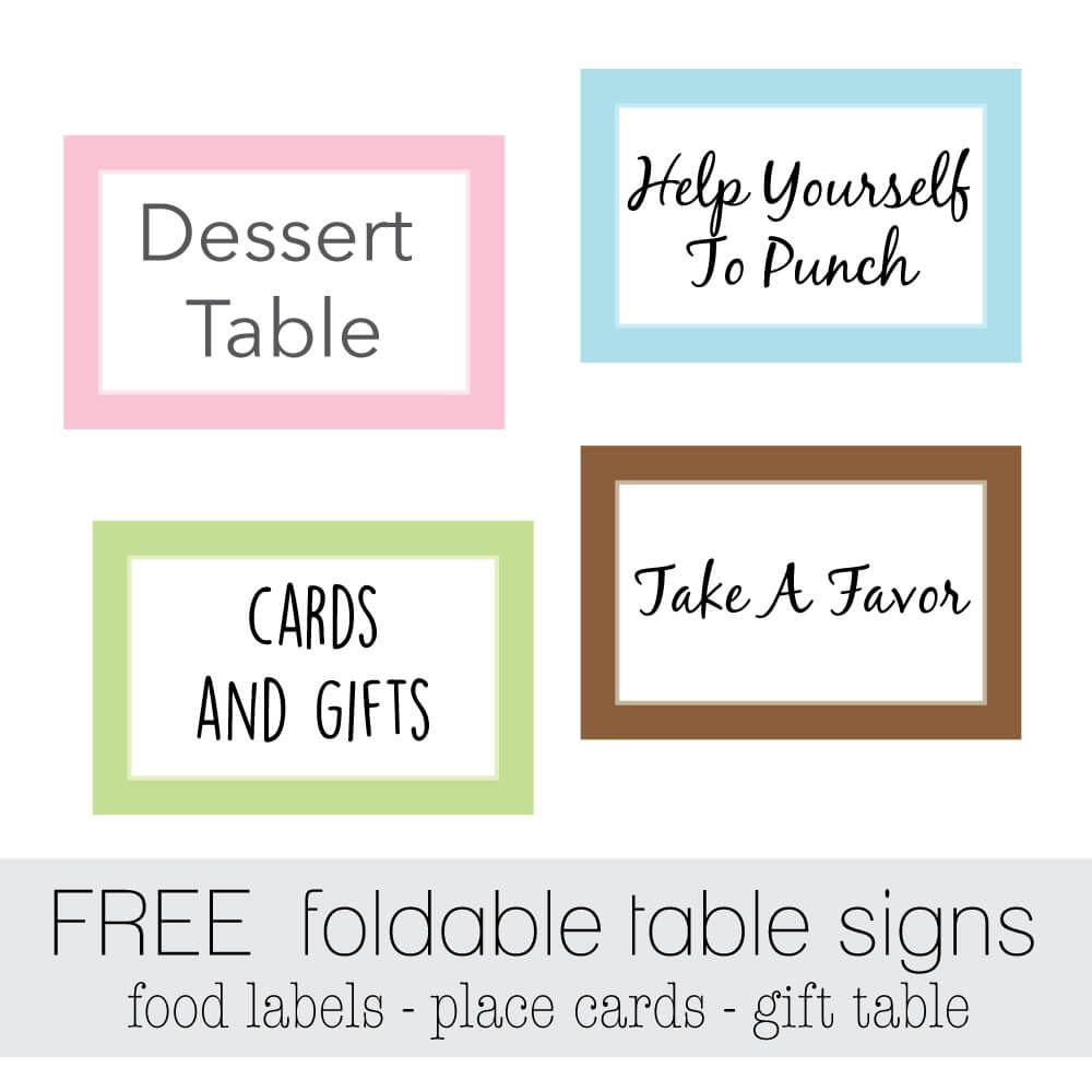 Free Favor Tags For Parties | Cutestbabyshowers - Free Printable Party Signs