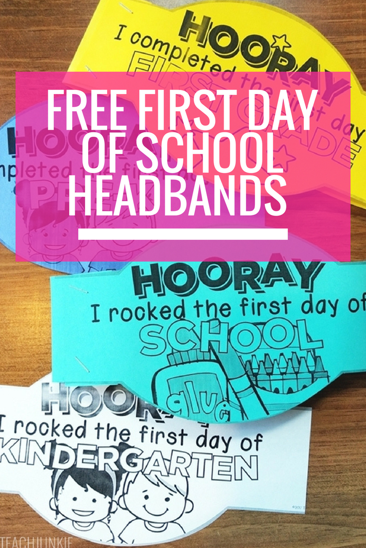 Free First Day Of School Headband Crowns | Kindergarten | First Day - Free Printable First Day Of School Certificate