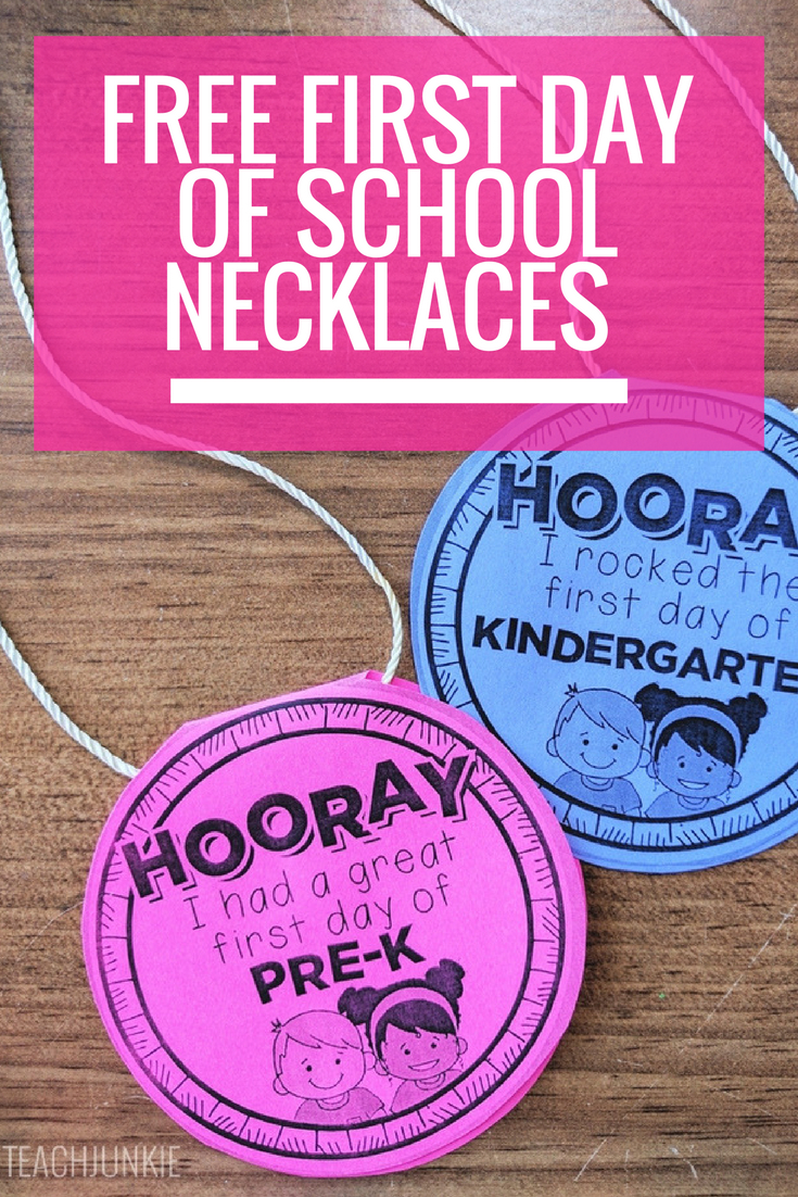 Free First Day Of School Necklaces (Editable) | Beginning Of Year - Free Printable First Day Of School Certificate