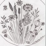 Free Floral Meadow Embroidery Pattern   Free Printable Embroidery Patterns