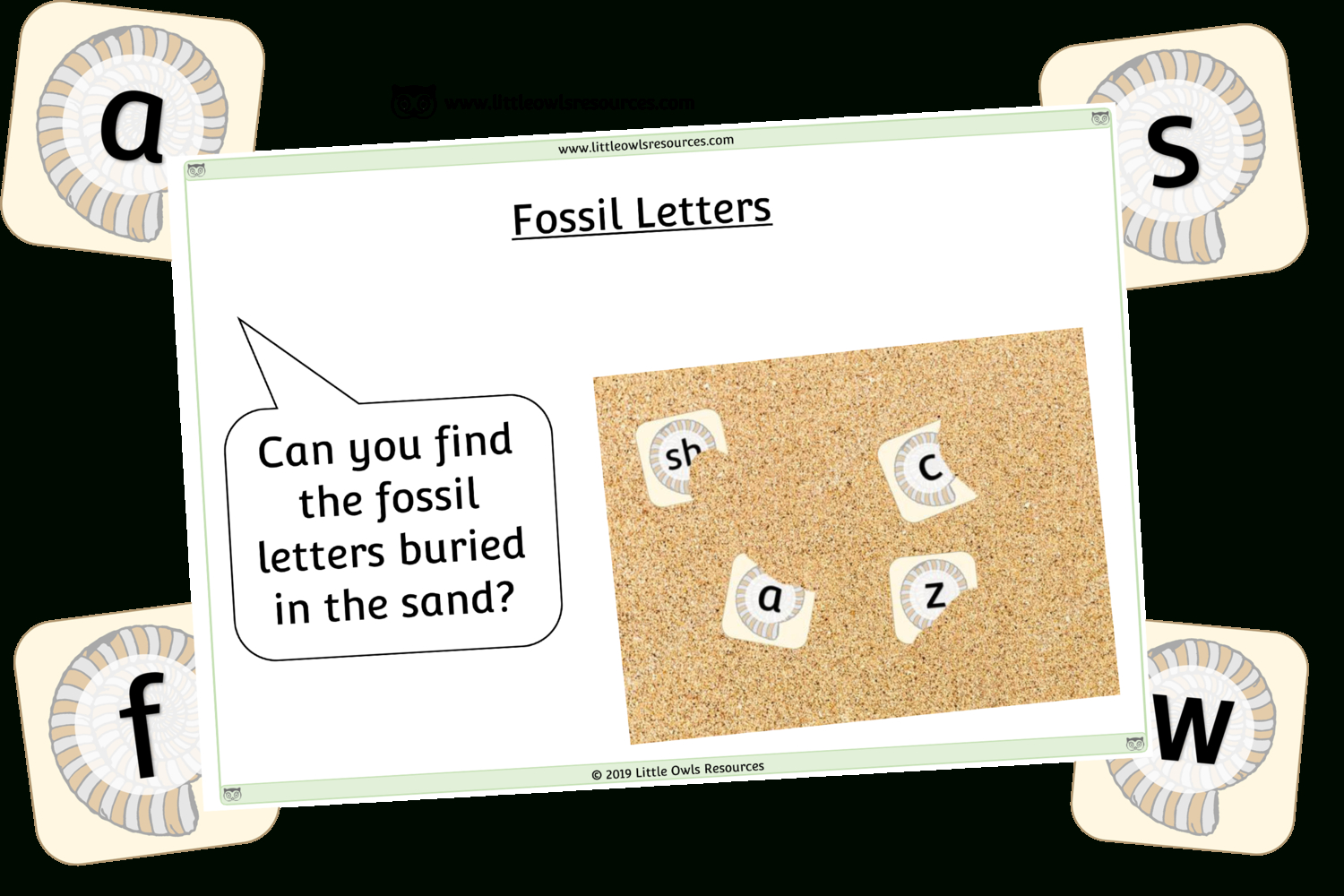 Free Fossil Letters Printable Early Years/ey (Eyfs) Resource - Free Printable Childminding Resources