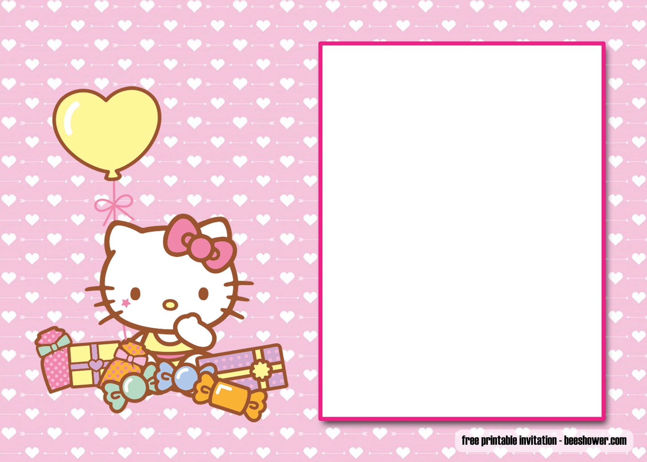 Free Free Perfect Hello Kitty Baby Shower Invitations   Beeshower - Free Printable Hello Kitty Baby Shower Invitations