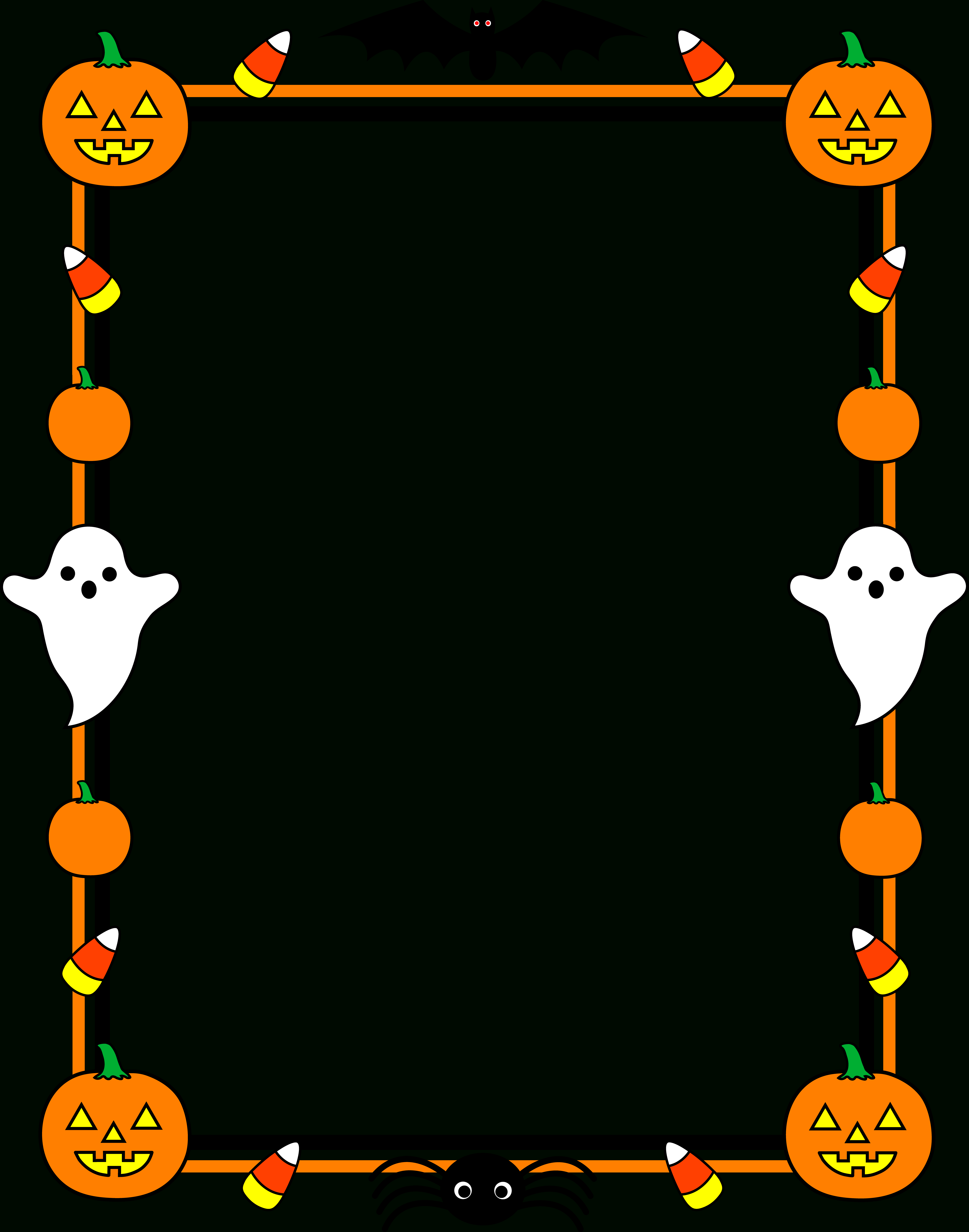 Free Free Printable Halloween Clipart, Download Free Clip Art, Free - Free Printable Halloween Stationery Borders
